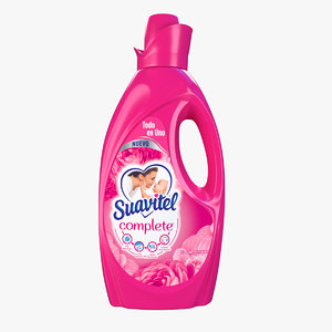 3D softener bottle suavitel model