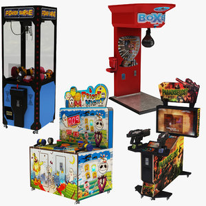 3D arcade machine boxing
