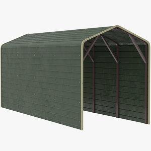 3D model shelter cover