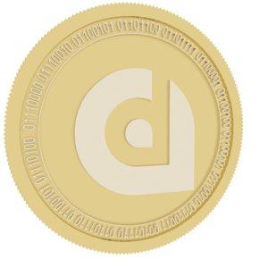 liquidapps gold coin 3D model