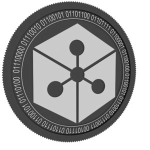 lunyr black coin 3D model