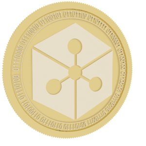 3D model lunyr gold coin