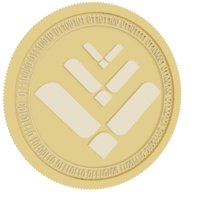 3D lto network gold coin model