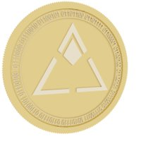 3D loyalcoin gold coin model