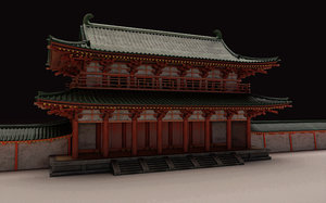 japan traditional rajoumon 3D model