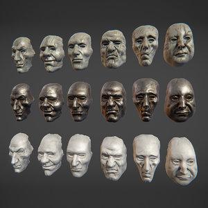 3D masks metall porcelain