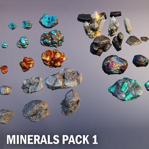 3D minerals materials