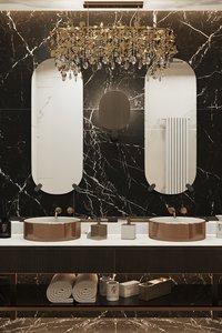 bathroom modern luxury interior scene model
