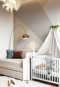3D small baby room interior