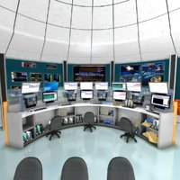 mission control center 3D