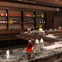 bar interior scene 3D