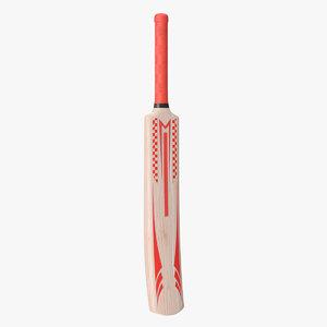 cricket bat wood 3D model