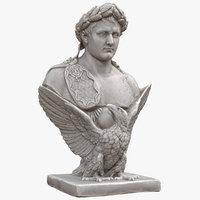 napoleon bust eagle 3D
