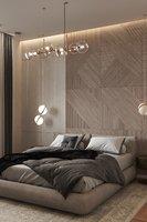 Bedroom Modern Scene and Corona Render