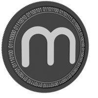 3D black coin model