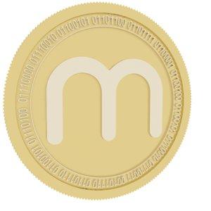 metronome gold coin 3D
