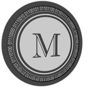 melon black coin 3D model