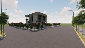 revit villa 3D model
