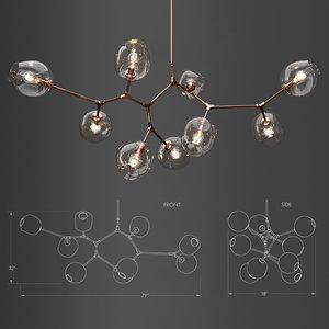 3D model branching bubble lamp