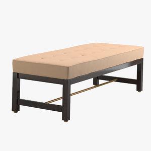 3D edward wormley bench model