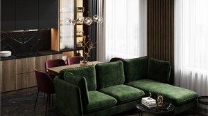 3D model apartment interior design scene