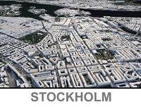3D stockholm city