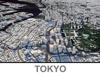 3D model tokyo city
