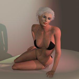 realistic tiia bw 3D