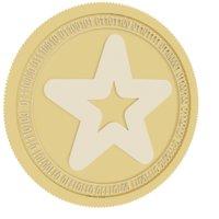 3D mindol gold coin model