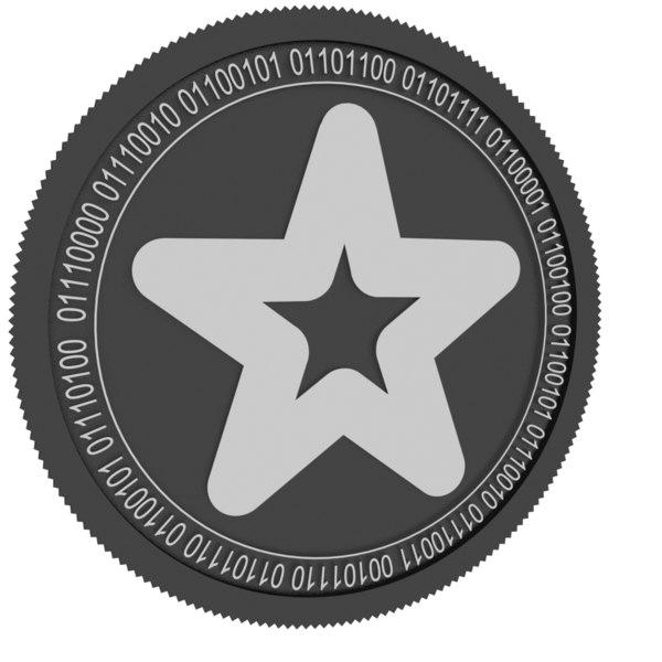 3D model mindol black coin
