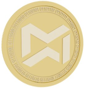 minebee gold coin 3D model