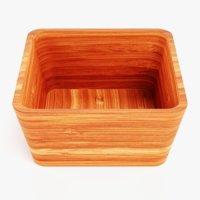 bamboo bowl 3D