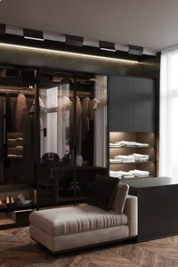 walk-in closet interior scene 3D model