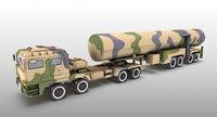 truck missile vehicle 3D model