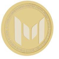 3D model monetha gold coin