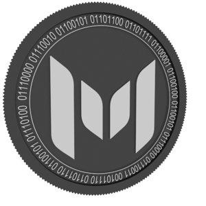 3D monetha black coin