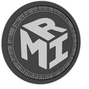mir coin black 3D