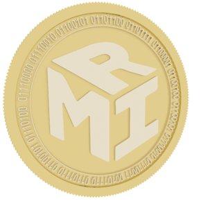 3D mir coin gold