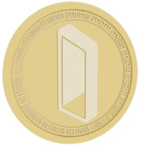 3D monolith gold coin model