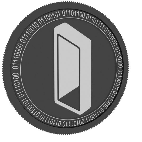 3D black coin