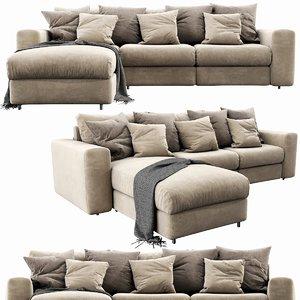 3D ditre italia freedom chaise lounge