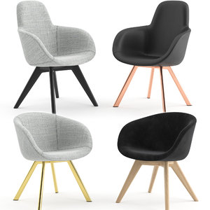 3D scoop chair wood tom dixon model