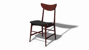 scandinavian 70 design chair 3D model