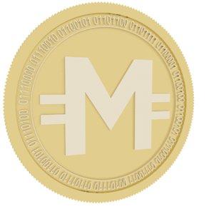 3D model moss gold coin