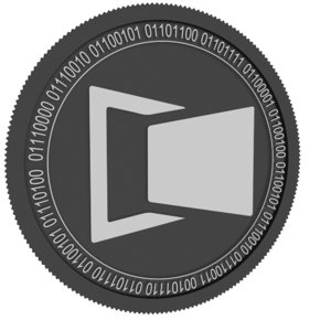 moviebloc black coin 3D model