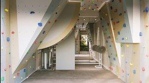 home climbing wall interior design 3D model
