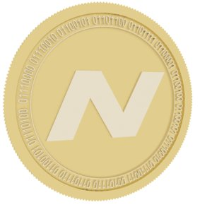 3D navcoin gold coin model