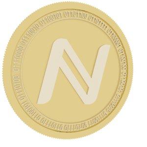 3D namecoin gold coin model