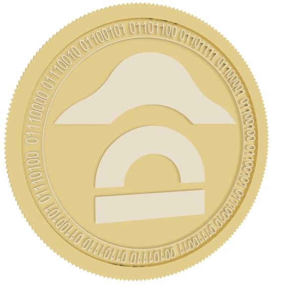 napoleonx gold coin 3D model
