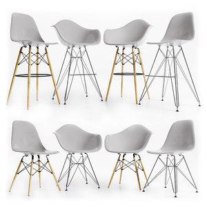 plastic chairs eames 3D model